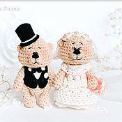 Свадебный салон ручной работы. Ярмарка Мастеров - ручная работа Свадебные медведики. Handmade.