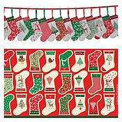 Материалы для творчества ручной работы. Ярмарка Мастеров - ручная работа Панель Christmas Mini Stockings panels. Handmade.