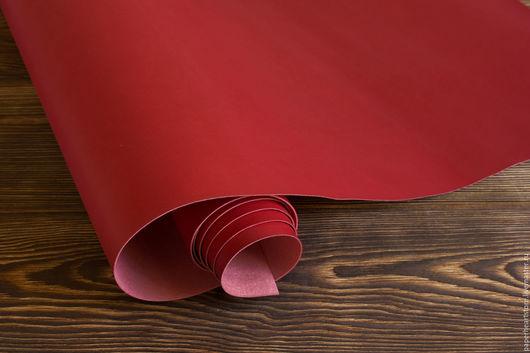 Другие виды рукоделия ручной работы. Ярмарка Мастеров - ручная работа. Купить Красный кожзаменитель матовый. Handmade. Кожзам, кожзаменитель