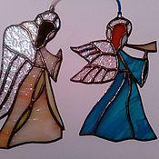 Для дома и интерьера ручной работы. Ярмарка Мастеров - ручная работа Витражные Ангелы - хранители.. Handmade.