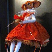 Куклы и игрушки ручной работы. Ярмарка Мастеров - ручная работа Девочка лисичка Ляся. Handmade.