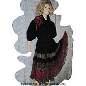 Одежда ручной работы. Ярмарка Мастеров - ручная работа юбка вязаная Краски осени. Handmade.