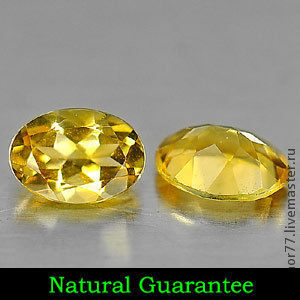 Citrine Gemstone - Chemical:  SiO2, Silicon D Genuine Gemstone -  Citrine  7 x 5.1 x 3 Mm.. - 1.29 Ct.  Hardness:   7    Gravity:   2.65 - 2.91 Clarity:   VSI Shape:   Oval