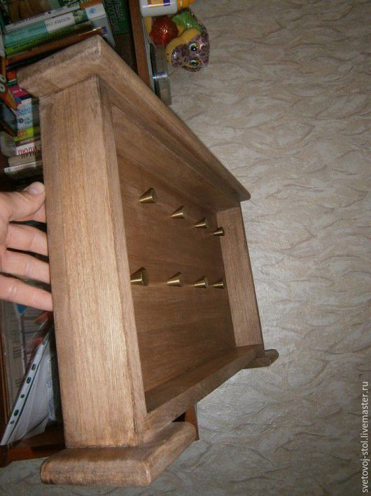 Прихожая ручной работы. Ярмарка Мастеров - ручная работа. Купить Ключница. Handmade. Бежевый, ключница в прихожую, ключница, Дерево натуральное