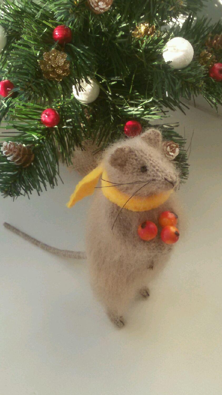 Мышка с ягодами, Мягкие игрушки, Уфа,  Фото №1