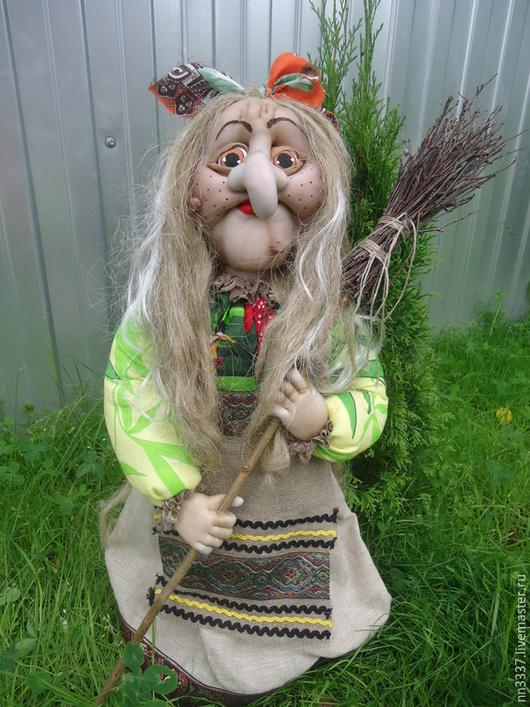 Сказочные персонажи ручной работы. Ярмарка Мастеров - ручная работа. Купить Баба Яга. Handmade. Разноцветный, кукла текстильная, оптом