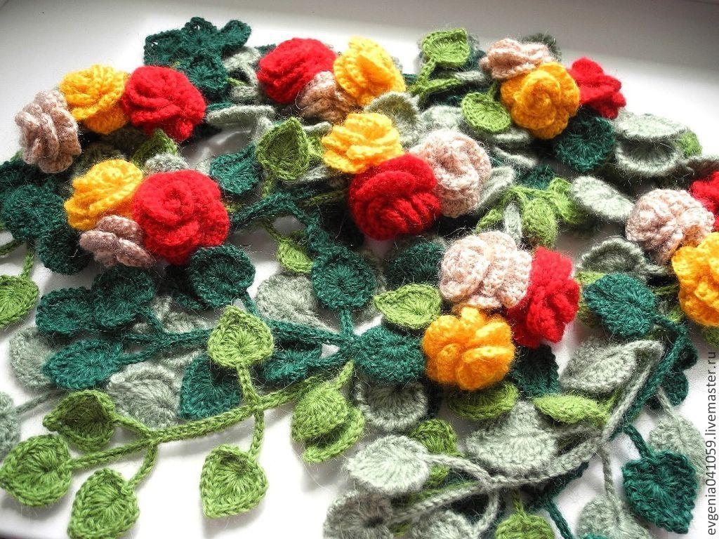 птица или цветочные шарфы как вязать рынок Кемеровской
