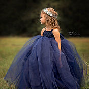 Работы для детей, handmade. Livemaster - original item lush long dress for girls in different colors. Handmade.