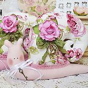 Куклы и игрушки handmade. Livemaster - original item Tilda snail, pink dreams. Handmade.