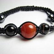 Украшения handmade. Livemaster - original item Shamballa bracelet carnelian and agate. Handmade.