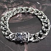 Украшения handmade. Livemaster - original item Silver bracelet with skulls. Handmade.