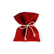 Бонбоньерки ручной работы. Ярмарка Мастеров - ручная работа 10х12см. 10шт. Мешочки из льна красные, бордовый, красный лён 100%. Handmade.
