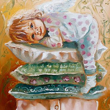 Картины и панно ручной работы. Ярмарка Мастеров - ручная работа Маленький Angel. Handmade.