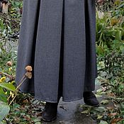 Одежда handmade. Livemaster - original item Long skirt with inverted pleats. Handmade.