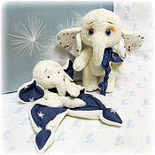 Подарочный набор для новорожденного комфортер и слоник
