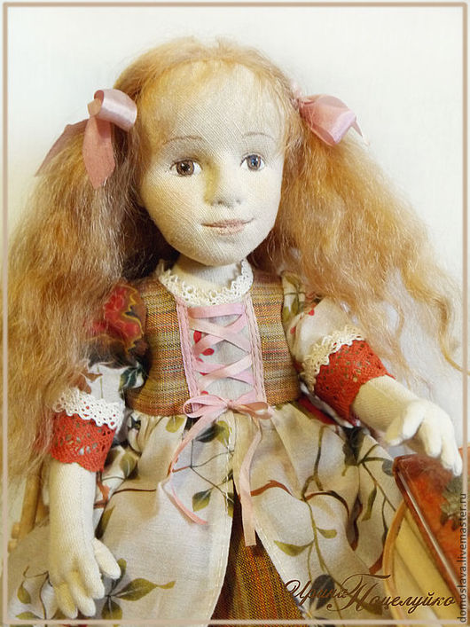 Коллекционные куклы ручной работы. Ярмарка Мастеров - ручная работа. Купить Юля. Handmade. Текстильная кукла, игрушка для детей, шерсть
