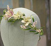 Свадебный салон ручной работы. Ярмарка Мастеров - ручная работа Лесной венок для романтичной девушки с капельками дождя на волосах. Handmade.