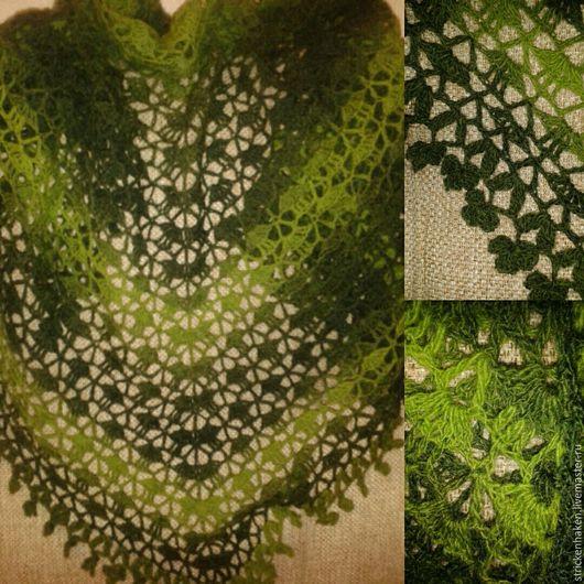 Шали, палантины ручной работы. Ярмарка Мастеров - ручная работа. Купить Весенняя шаль, легкая шаль, платок на шею,  бактус вязаный. Handmade.