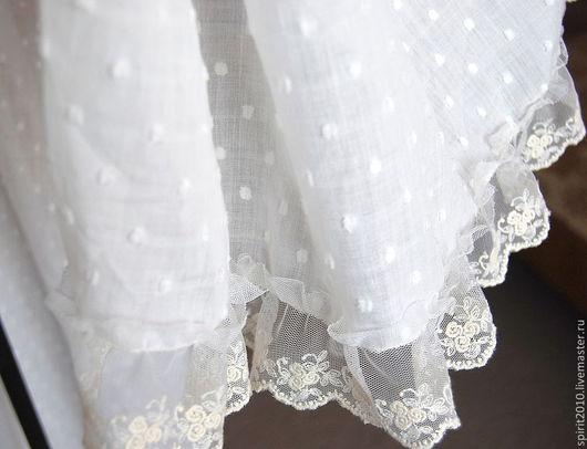 Текстиль, ковры ручной работы. Ярмарка Мастеров - ручная работа. Купить Занавес кружевной в стиле шебби-шик. Handmade. Белый