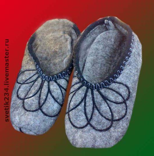Обувь ручной работы. Ярмарка Мастеров - ручная работа. Купить Тапочки войлочные. Handmade. Войлочные тапочки