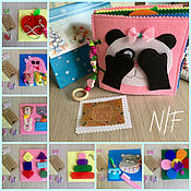 Куклы и игрушки handmade. Livemaster - original item Educational book of felt