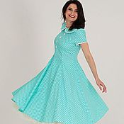 Одежда handmade. Livemaster - original item retro polka dot dress