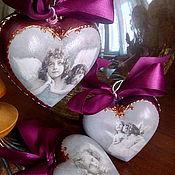 """Подарки к праздникам ручной работы. Ярмарка Мастеров - ручная работа Украшение """"Рождественские ангелы"""". Handmade."""