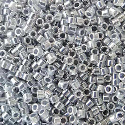 Для украшений ручной работы. Ярмарка Мастеров - ручная работа. Купить 10 ГР MIYUKI DELIKA 11/0 DB242  ceylon color-lined silver grey 10гр. Handmade.