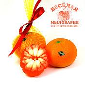 """Косметика ручной работы. Ярмарка Мастеров - ручная работа Мыло """"Апельсин"""" (очищенный и в кожуре). Handmade."""