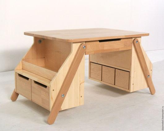 Детская ручной работы. Ярмарка Мастеров - ручная работа. Купить Стол детский деревянный растущий от 3 до 10 лет. Handmade.