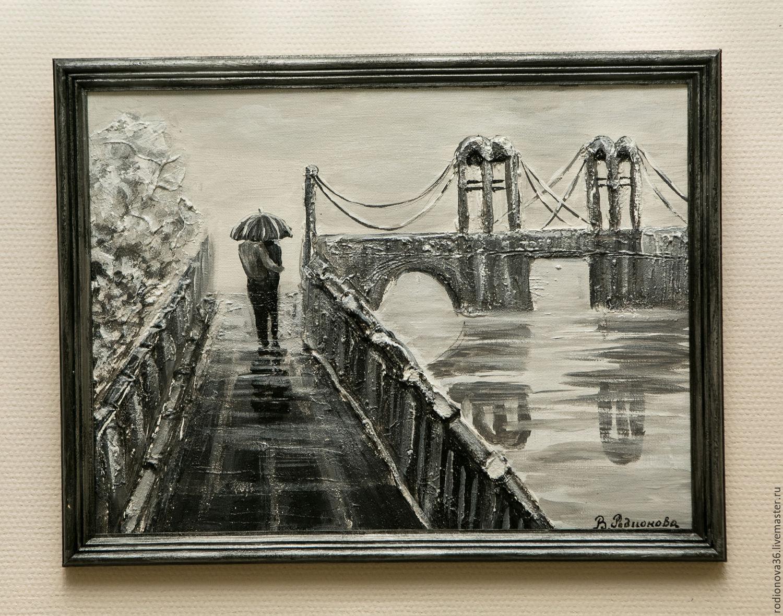 Ломоносовкий мост (объёмная живопись), Картины, Воронеж,  Фото №1
