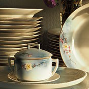 Винтаж handmade. Livemaster - original item The objects of the Dulevo porcelain service 1934-1937.. Handmade.