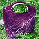Женские сумки ручной работы. Ярмарка Мастеров - ручная работа. Купить Валяная сумка. Handmade. Сумка женская, валяная сумка