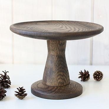 Для дома и интерьера ручной работы. Ярмарка Мастеров - ручная работа Тортница, тортовница из дуба. Handmade.