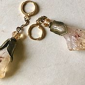 Украшения handmade. Livemaster - original item Earrings with citrine.3 kinds to choose from. Handmade.