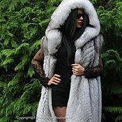 Одежда handmade. Livemaster - original item ROYAL VEST WITH LUXURY FOX FUR SAGA FURS XXL. Handmade.