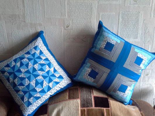 Текстиль, ковры ручной работы. Ярмарка Мастеров - ручная работа. Купить Лоскутные наволочки на подушки. Handmade. Разноцветный, бордовый, для дачи