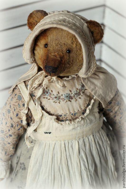 Мишки Тедди ручной работы. Ярмарка Мастеров - ручная работа. Купить Тётушка Аполлинария. Handmade. Бежевый, teddy, хлопок