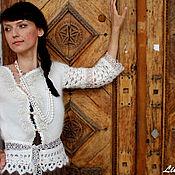 """Одежда ручной работы. Ярмарка Мастеров - ручная работа Жакет """"Кружевной"""". Handmade."""