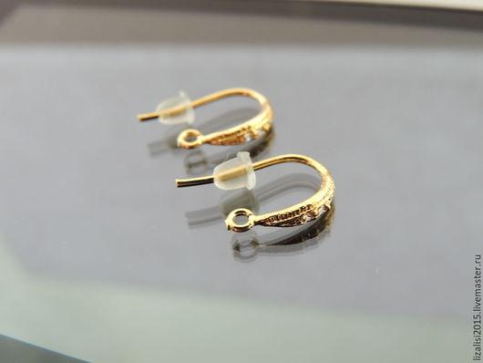 Для украшений ручной работы. Ярмарка Мастеров - ручная работа. Купить Швензы крючки 13мм позолота Южная Корея. Handmade.