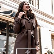 Одежда handmade. Livemaster - original item Winter trench coat with removable fur. Handmade.