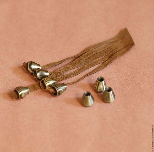Шитье ручной работы. Ярмарка Мастеров - ручная работа. Купить Концевик, наконечник для шнура-  бронза. Handmade. Латунь, металл