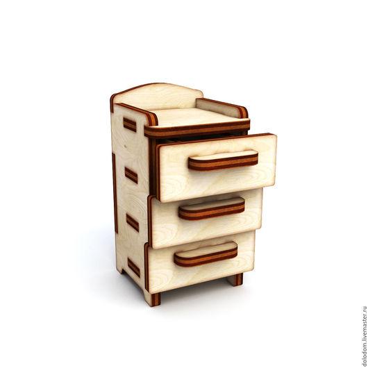 Куклы и игрушки ручной работы. Ярмарка Мастеров - ручная работа. Купить КНМ-0000005 шкафчик с выдвижными ящиками. Handmade.