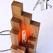 Для дома и интерьера handmade. Livemaster - original item Table lamp made of wood in rustic style and Loft retro lamp. Handmade.