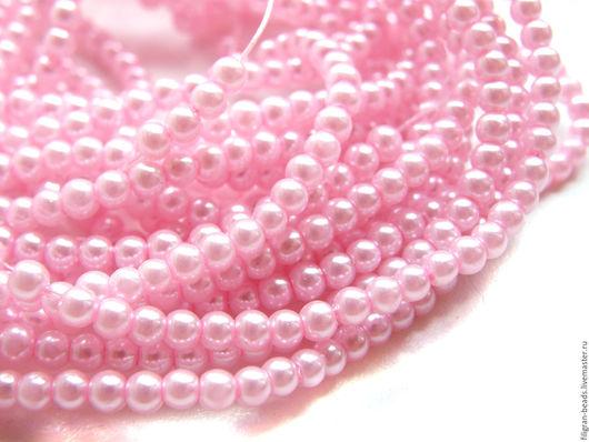Для украшений ручной работы. Ярмарка Мастеров - ручная работа. Купить Жемчуг стеклянный 3 мм  розовый (19501). Handmade.