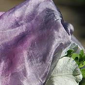Аксессуары ручной работы. Ярмарка Мастеров - ручная работа Шелковый палантин Все женщины немного королевы шелковый шарф. Handmade.