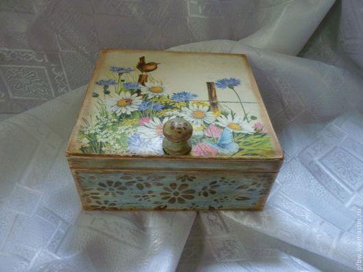 """Кухня ручной работы. Ярмарка Мастеров - ручная работа. Купить чайная шкатулка """"Лето"""". Handmade. Чайная коробка, подарок"""