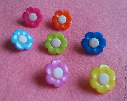 Пуговицы `Цветочки` 5 цветов Размер 17 мм Стоимость 5 руб./шт. При заказе указывайте нужный цвет и количество!