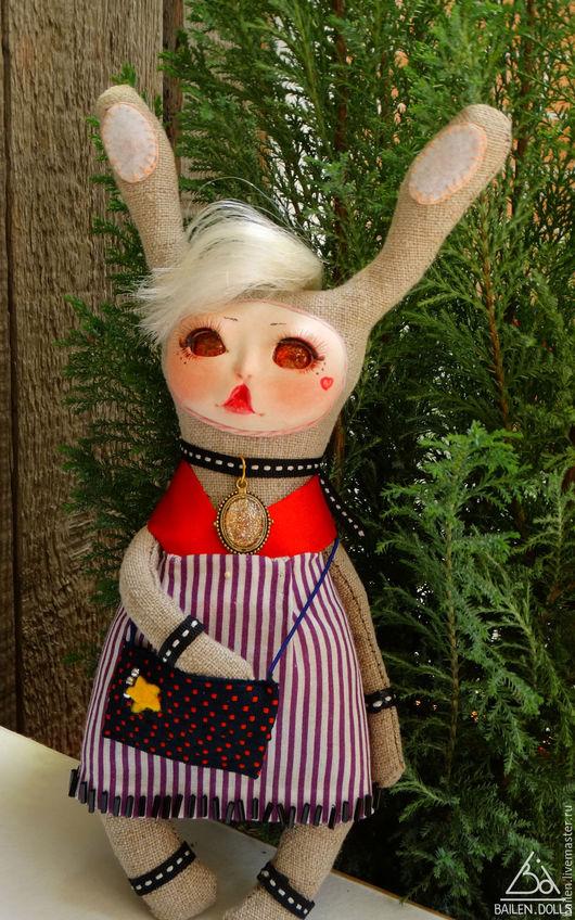 Коллекционные куклы ручной работы. Ярмарка Мастеров - ручная работа. Купить Эвридика. Handmade. Комбинированный, зайчики, текстильная кукла, флюмо