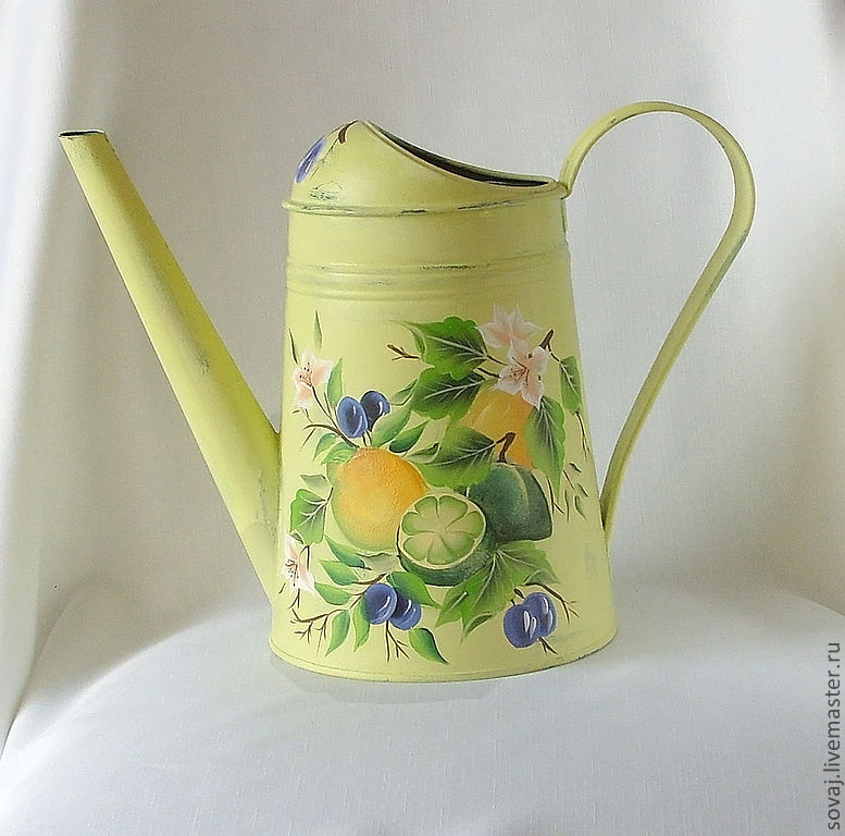 Watering can for watering houseplants 'Lemons and olives', Heads, ,  Фото №1